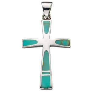 SAUTOIR ET COLLIER Mon-bijou - D4274t - Collier chic turquoise croix
