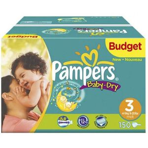 COUCHE PAMPERS - Couche Bébé - Activ baby dry - Taille 3