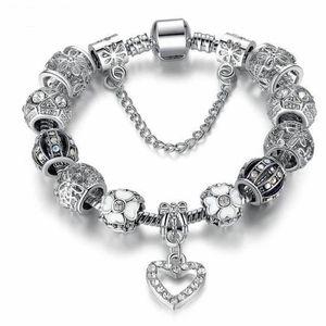 BRACELET - GOURMETTE co Bracelet Style Pandora Charms Cristal Argent 92
