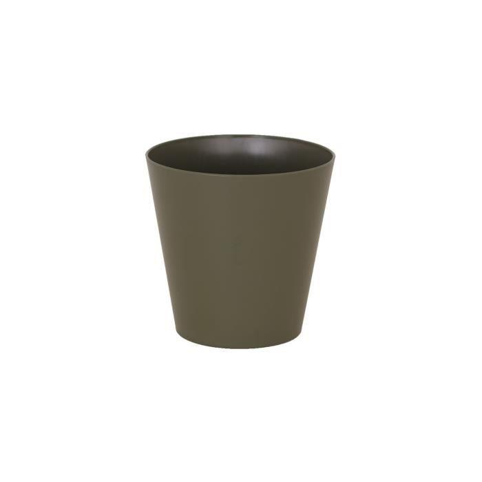ARTEVASI Pot de fleurs haut Porto Mate - 21 L - 30 x 30 x 40 cm - Vert sec