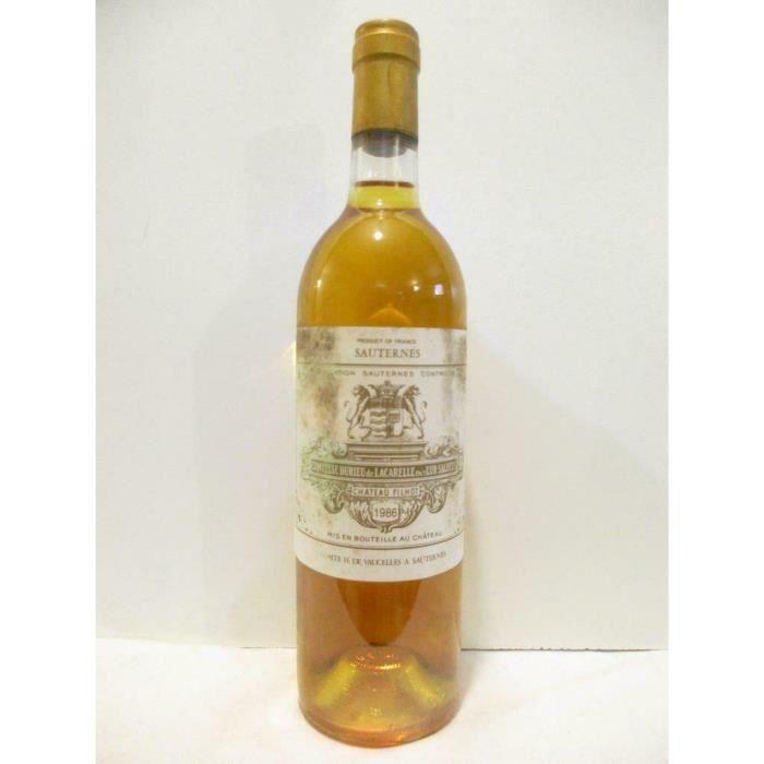 sauternes château filhot grand cru classé (étiquette sale) liquoreux 1986 - bordeaux