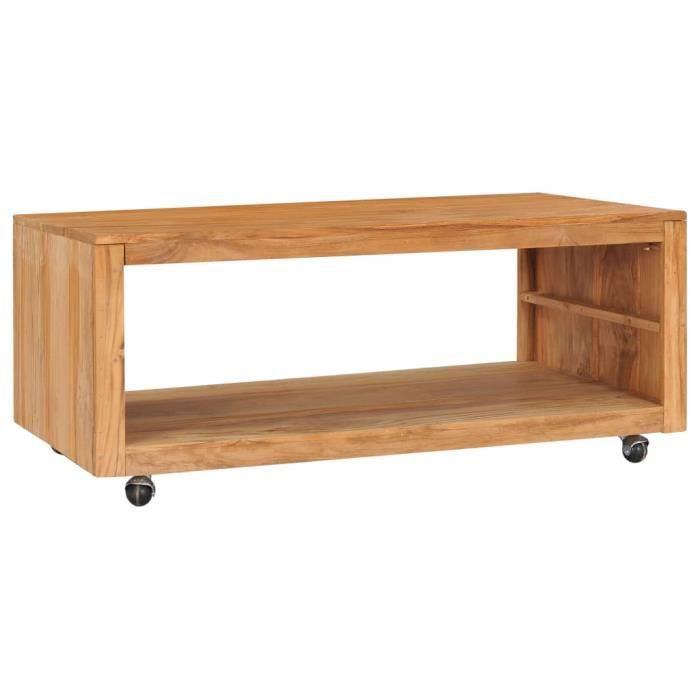 Table basse style contemporain - Tables de salon Style Industriel - Table à thé 110x60x40 cm Bois de teck massif��4826
