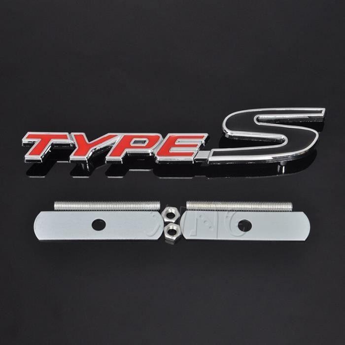 Emblème de Grille avant de voiture en métal 3D Badge de calandre automobile pour Honda Type R course Type S, MC6491