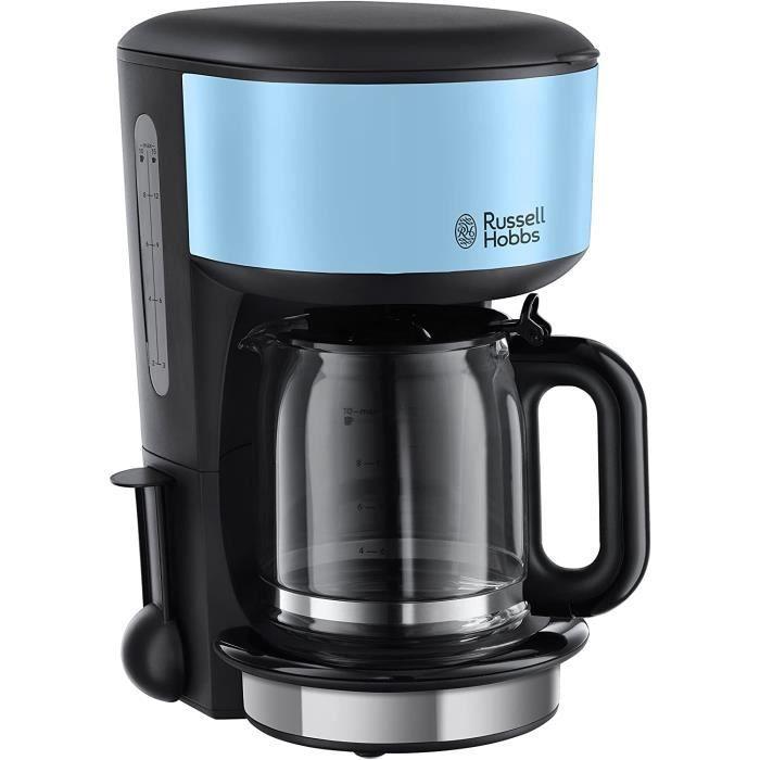 Russell Hobbs 20136-56 Colours Plus Cafetière, 1000 W, 1.25 liters, Bleu/Noir