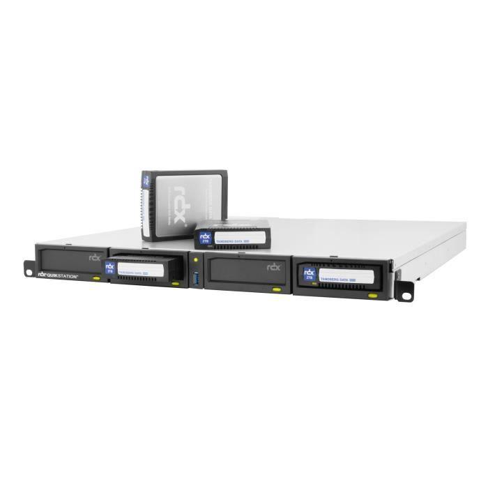 OVERLAND TANDBERG Réseau de stockage - RDX QuikStation 4, 4-dock, 1GbE-attached Removable Disk Array, 1U Rackmount