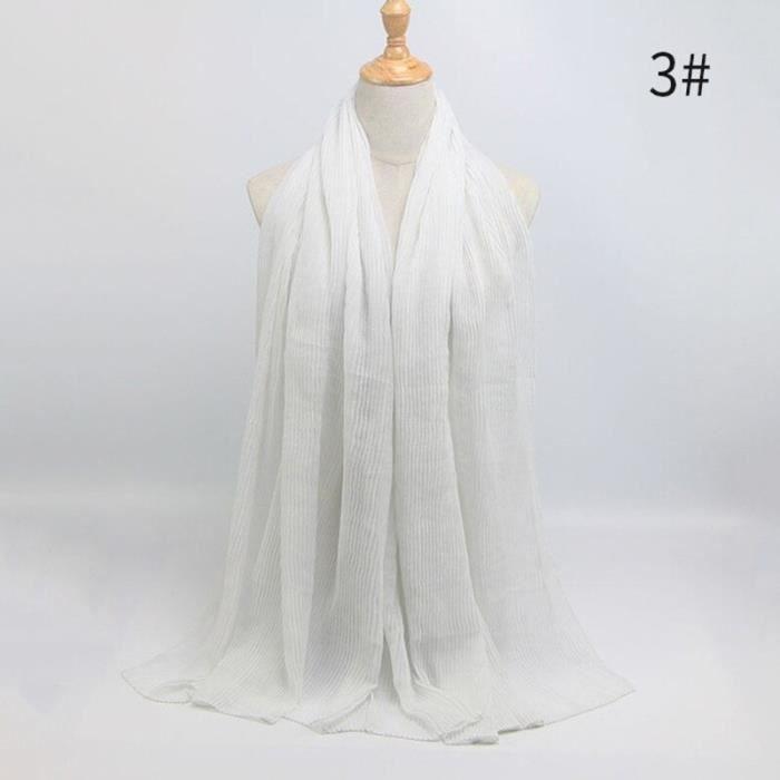Foulard hijab en coton froissé, écharpe douce, écharpe chaude, écharpe chaude, châle, 25 couleurs, Design hiver, tendanc DY5171