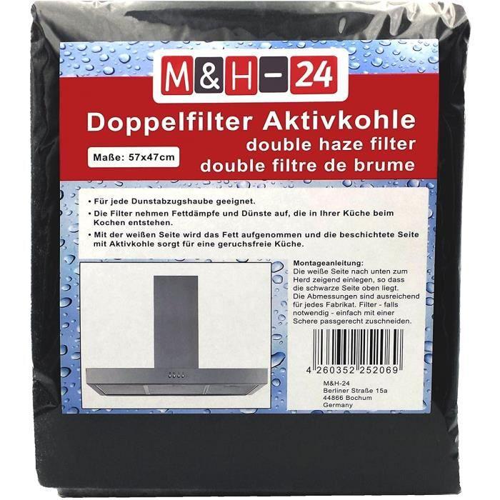 FILTRE POUR HOTTE Filtre Hotte Cuisine &agrave Charbons Actifs, Filtre Universel Decoupable combin&eacute de 57 x 47 cm, Anti 5