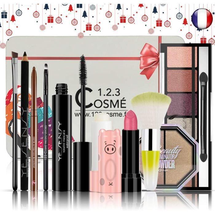 COFFRET DE MAQUILLAGE Coffret de Noel Maquillage - 10 Essentiels de maquillage Dans une boite Box Sp&eacuteciale No&eumll99