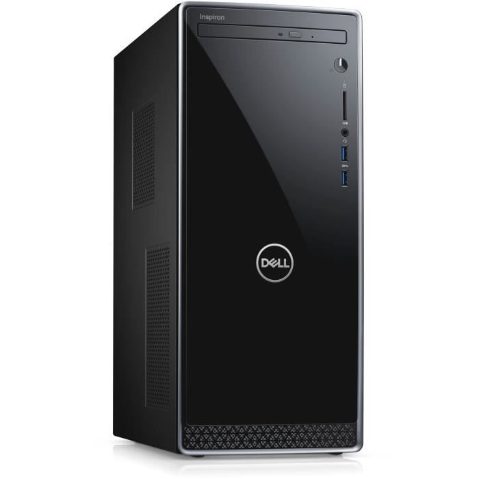 DELL PC de Bureau Inspiron 3670 - Core i3-8100 - RAM 8Go - Stockage 1To HDD - Windows 10