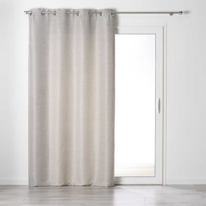 Rideau a oeillets 140 x 240 cm tamisant chambray glory Lin