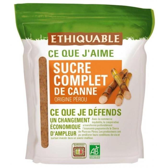 ETHIQUABLE Sucre complet de canne - 500 g