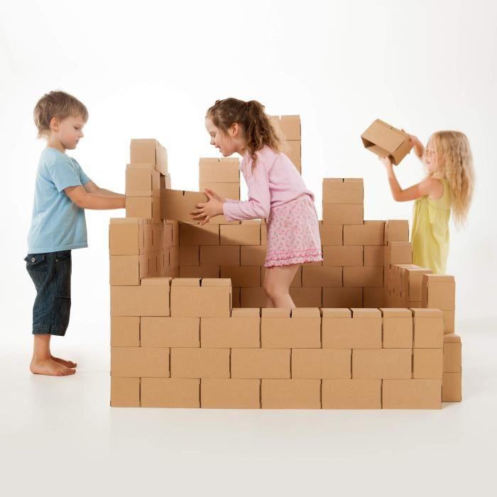 Des blocs de construction géants - jeu de construction comprenant 100 blocs de taille XXL, des cadeaux pour garçons et filles,