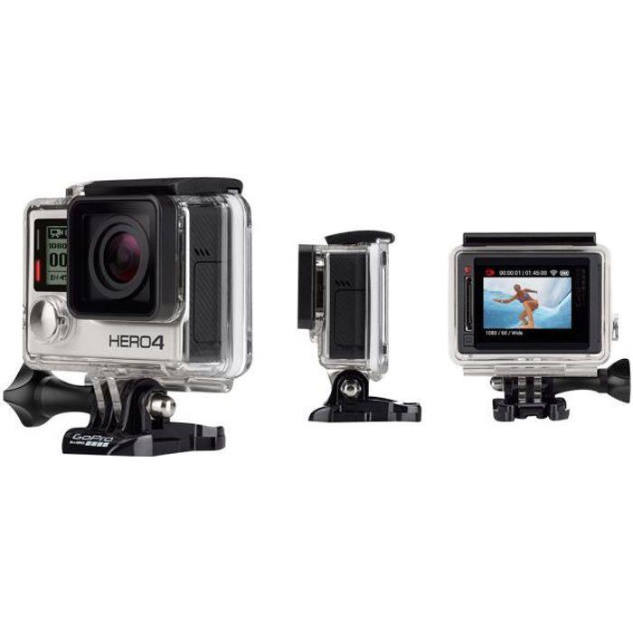 GoPro HERO4 Black Edition Motorsport caméra de poche fixable 4K - 30 pi-s 12.0 MP Wi-Fi, Bluetooth sous-marin jusqu'à 40 m