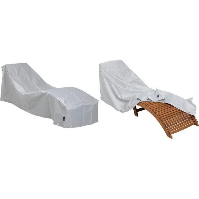Kingsleeve - Bâche de Protection - Housse Bain de Soleil/Chaise Longue • grise - Oxford 420D résistant aux intempéries • Hydrofuge