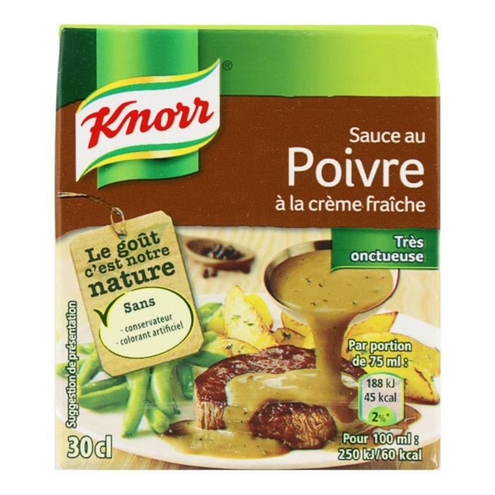 Knorr Sauce au Poivre à La Crème Fraîche 4 Parties 30 cl