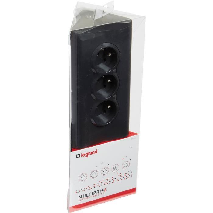 Support tablette fb 3x2pt 2usb 15m noir