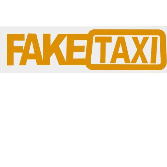 Drôle FAKE TAXI voiture Stickers universels drôles autocollants et décalcomanies Car Styling Autocollants d'avertissement