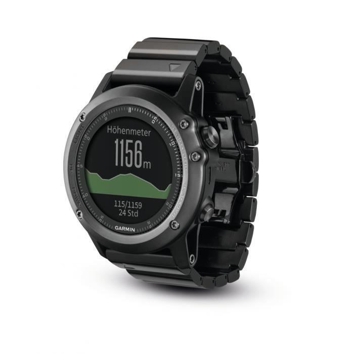 GARMIN Montre GPS Fenix 3 Saphirre Performer Bundle Noir et Gris