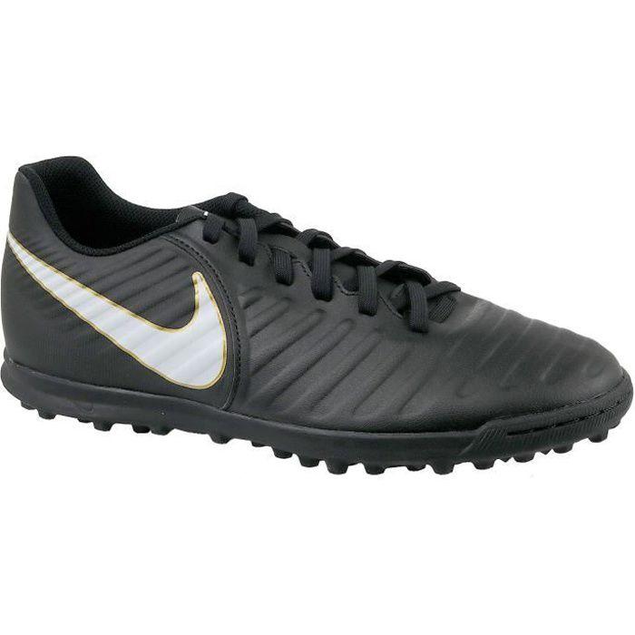 Nike Tiempox Rio IV TF 897770-002 Homme Chaussures de foot turf Noir