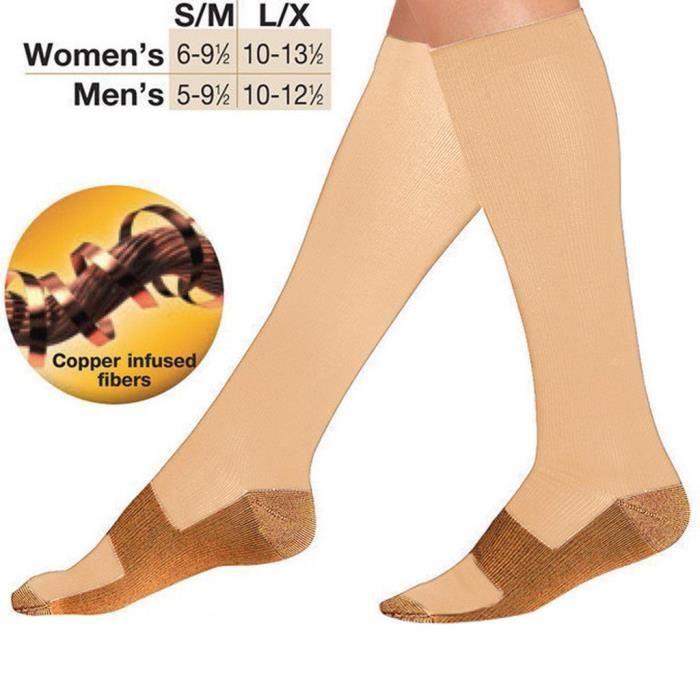 Les chaussettes de compression pour femmes et hommes sont idéales pour la course à pied. Chaussettes
