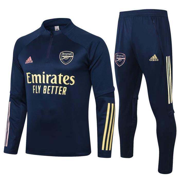 Arsenal - Maillot de Foot Enfants Garçon Homme 2020-2021 Ensemble Survêtements D'entraînement de Football(Haut + Pantalon)