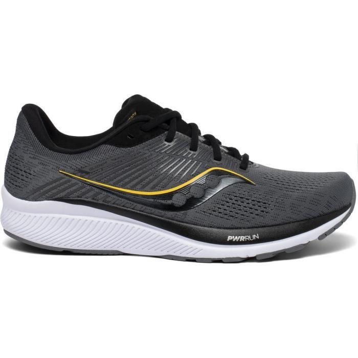 Chaussures de running Saucony guide 14 - gris foncé/noir/jaune - 50