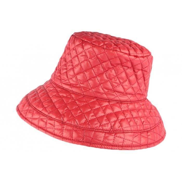 Grand chapeau Pluie Rouge Femme Rayny Nyls Création - Rouge - Taille unique