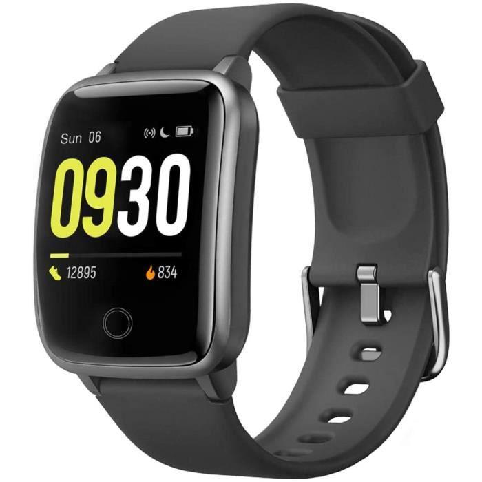 Montre intelligente Fitness Tracker Surveillance de la fréquence cardiaque Montre numérique de sport pour téléphones Android et télé