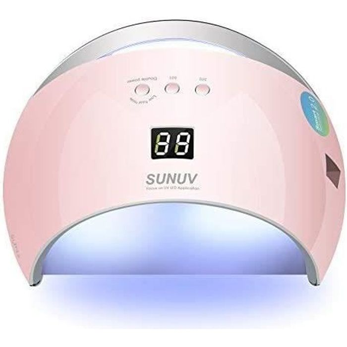 SUNUV SUN6 48W UV LED Sèche Ongles Lampe pour Gel, avec minuterie (30s, 60s, 99s), écran LCD, avec capteur et temps de durcissement
