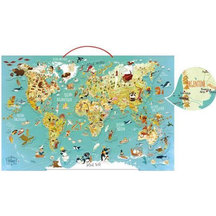 VILAC Carte du monde fantastique magnétique