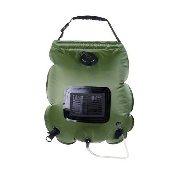Sac de douche solaire, 20 litres, camping, température 45 °C, randonnée, escalade