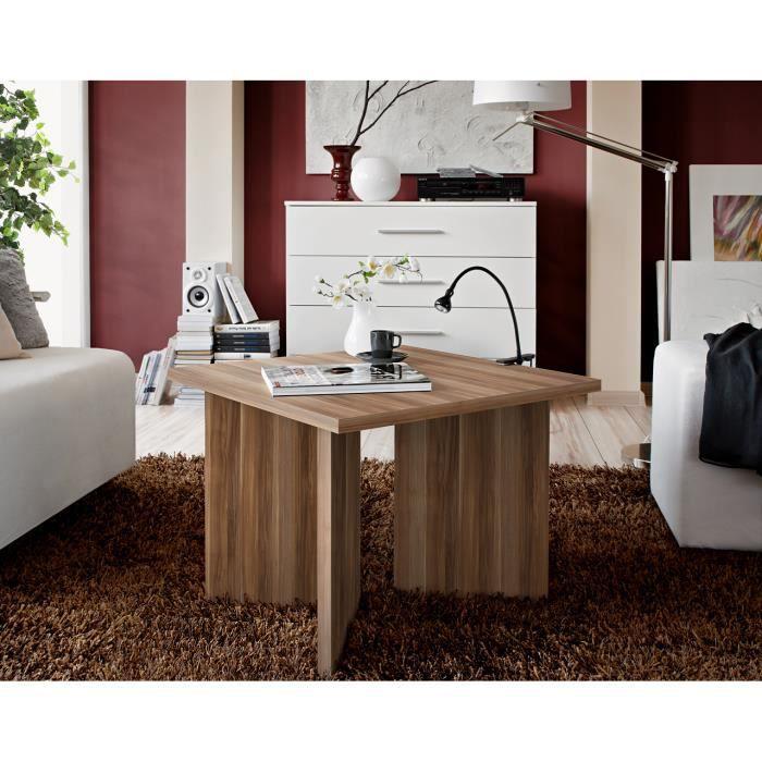 TABLE BASSE Table basse carrée laminée prunier PIKO 60x45x60 c