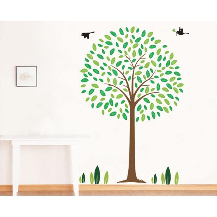 stickers arbre oiseaux free wall sticker arbre diy. Black Bedroom Furniture Sets. Home Design Ideas