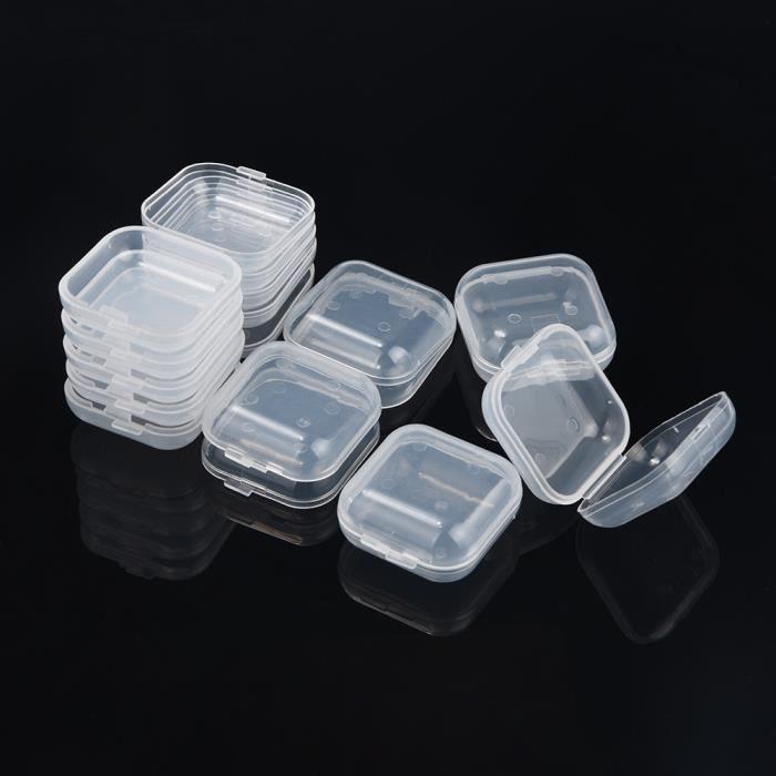 Boite De Rangement Bac De Rangement 10pcs Portable Transparent Flip Box A Bijoux Carre Petite Boite De Rangement En Plastique Achat Vente Boite De Rangement Entretien Menager Et Cdiscount