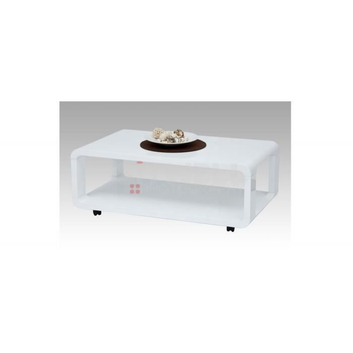 table basse blanche sur roulettes achat vente table. Black Bedroom Furniture Sets. Home Design Ideas