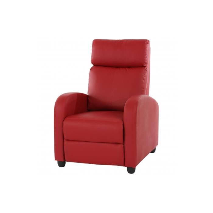 fauteuil relax everest rouge achat vente fauteuil rouge cdiscount. Black Bedroom Furniture Sets. Home Design Ideas