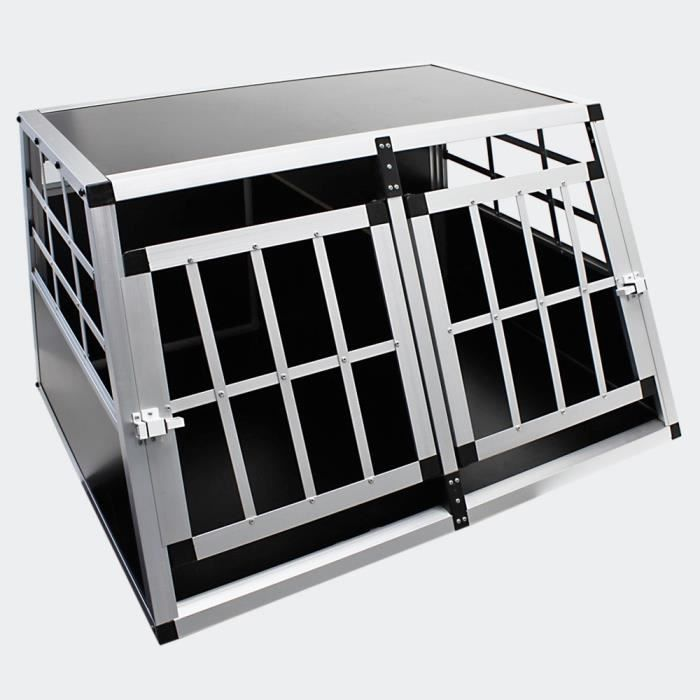 cage double de transport voiture pour chien achat vente caisse de transport cage double de. Black Bedroom Furniture Sets. Home Design Ideas