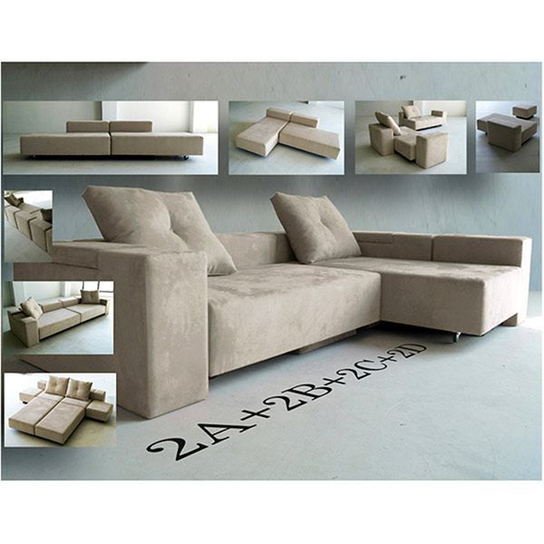 canap beige convertible en tissu feydom 4ad ca achat. Black Bedroom Furniture Sets. Home Design Ideas