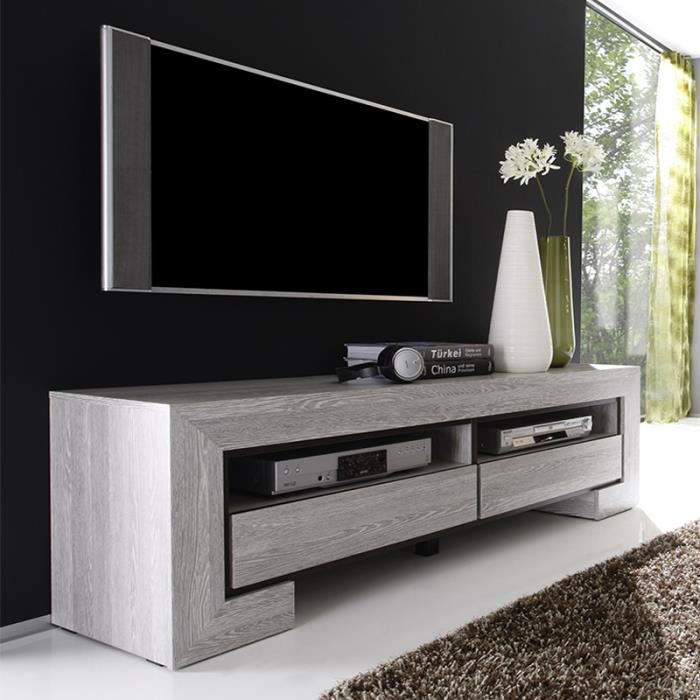 meuble tv couleur ch ne gris contemporain russ achat. Black Bedroom Furniture Sets. Home Design Ideas