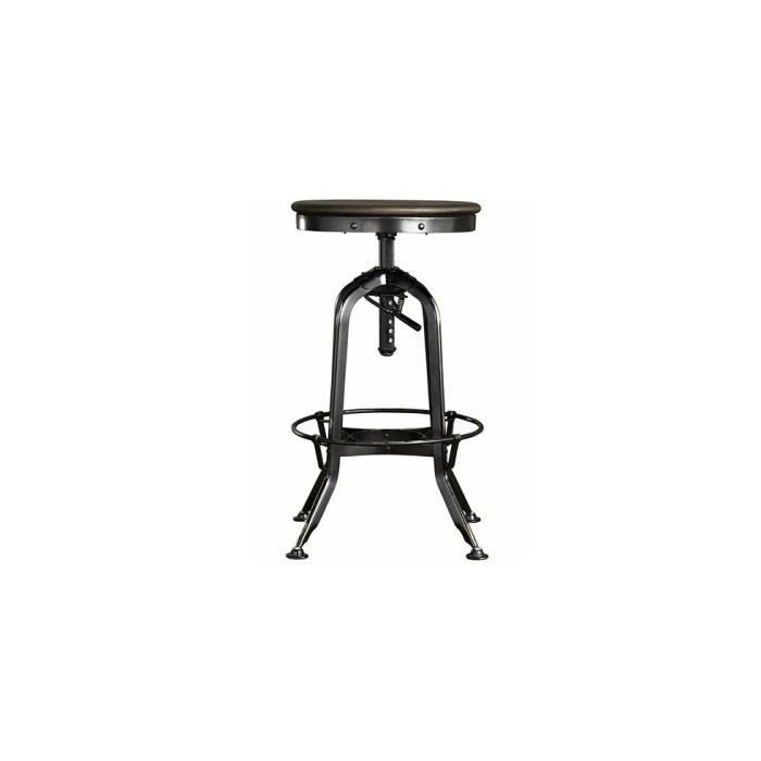mobilier table tabouret industriel vintage. Black Bedroom Furniture Sets. Home Design Ideas