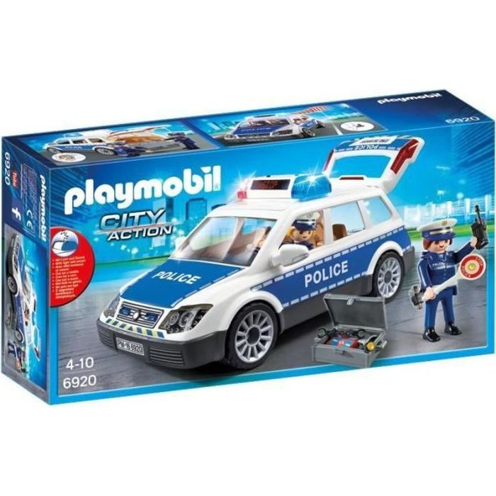 Photo de playmobil-6920-city-action-voiture-de-policiers-avec-gyrophare-et-sirene