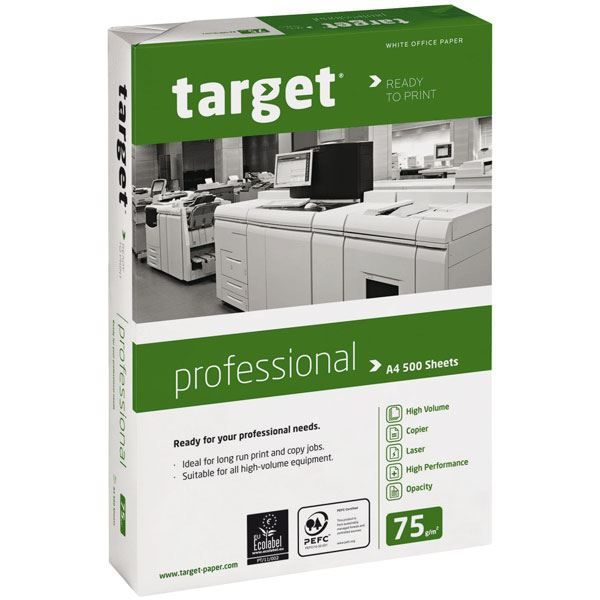 ramette papier target porfessional a4 75g blanc achat. Black Bedroom Furniture Sets. Home Design Ideas