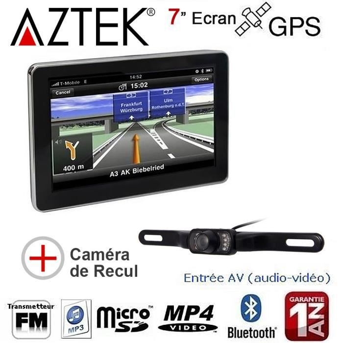 aztek gps auto 7 pouces 8go avec cam ra de recul. Black Bedroom Furniture Sets. Home Design Ideas