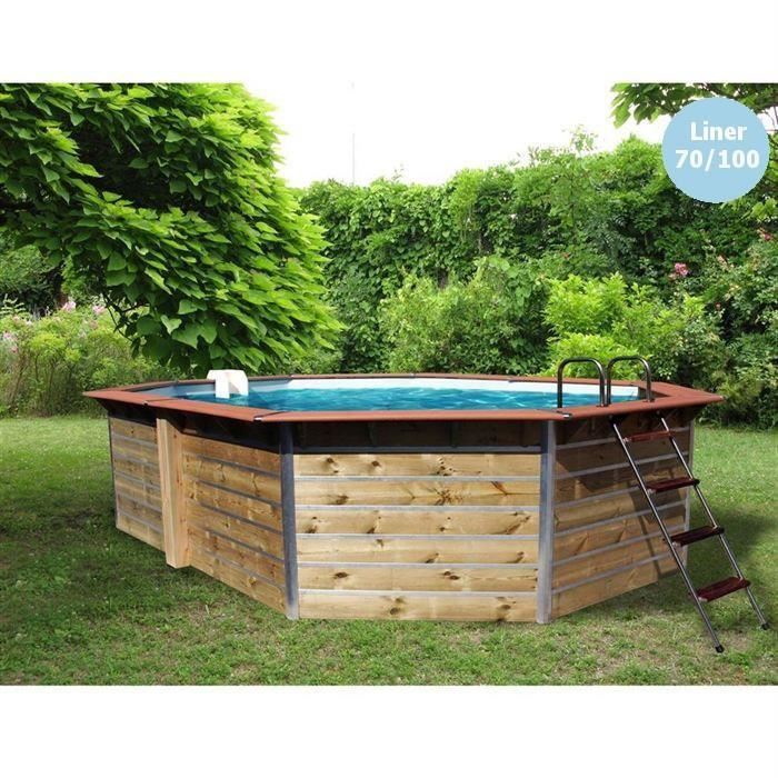 Piscine bois alu waterclip 530x370x129 premium achat for Bcf international piscine