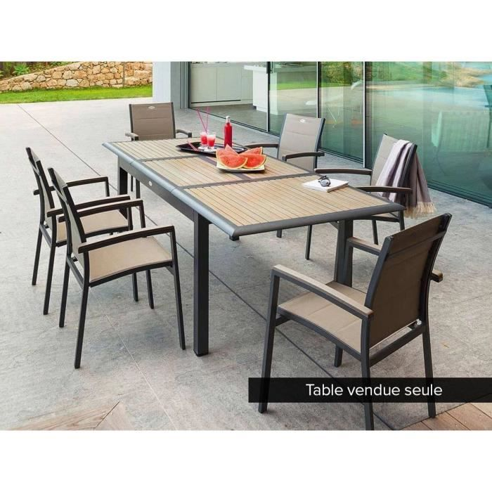Table extensible en composite 6/10 places Taupe