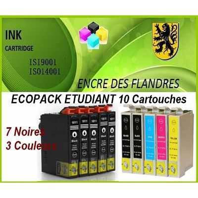 ecopack etudiant 10 pour epson home xp305 xp402 xp102 xp202 xp205 xp405 xp302. Black Bedroom Furniture Sets. Home Design Ideas