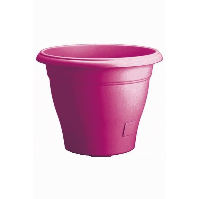 pot de fleurs pvc rose fuschia 10l avec r serve d 39 eau de 700 ml grosfillex achat vente. Black Bedroom Furniture Sets. Home Design Ideas