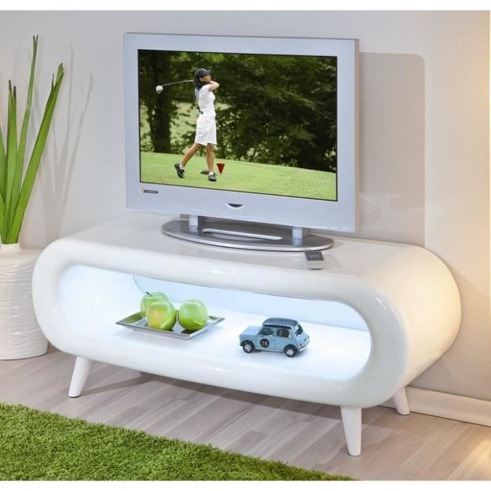 meuble tv ovale pritty r tro clair achat vente meuble