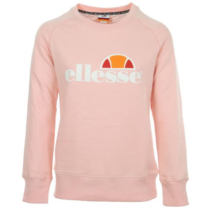 BASKET Sweat Ellesse Eh F SWS Col Rond Rose Clair