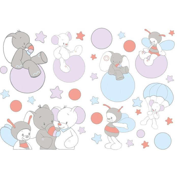 Nattou d co b b stickers achat vente stickers cdiscount for Deco mural bebe